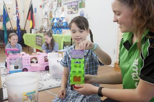 St Mary - St Joseph Catholic Primary School Maroubra - students playing with connectables